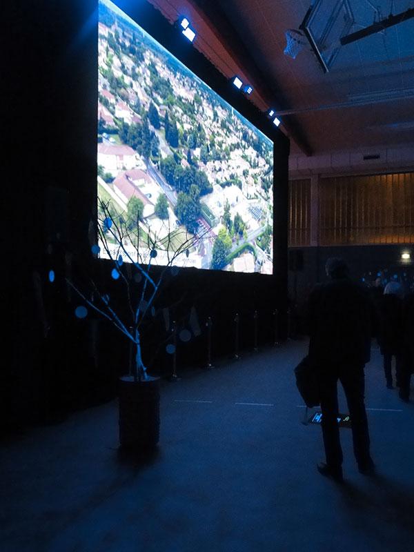 Projection sur écran géant
