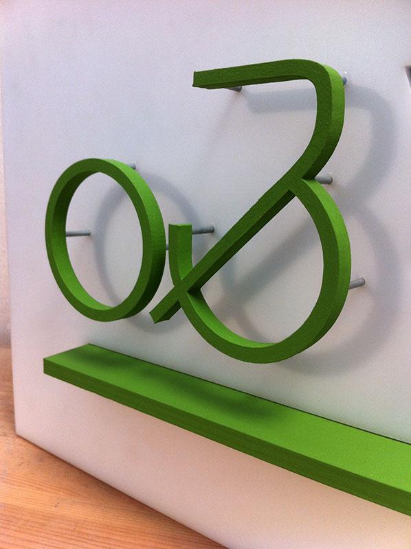Logo en 3D Vélo & Territoires détail